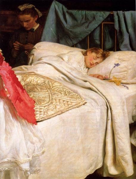Millais Sir John Everett Sleeping